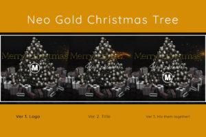 Neo Golden Christmas Tree 3D Animation