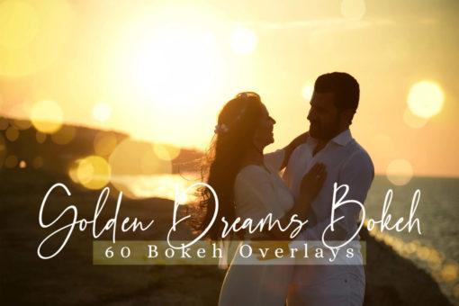 60 Golden Dreams Bokeh Lights Overlays