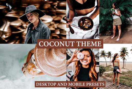 COCONUT THEME Desktop and Mobile Lightroom Presets