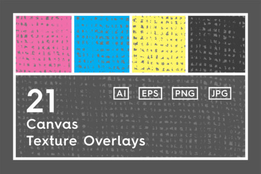 21 Canvas Texture Overlays