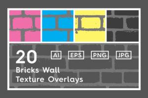 20 Bricks Wall Texture Overlays