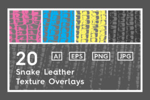 20 Snake Leather Texture Overlays