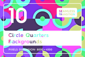 10 Circle Quarters Backgrounds