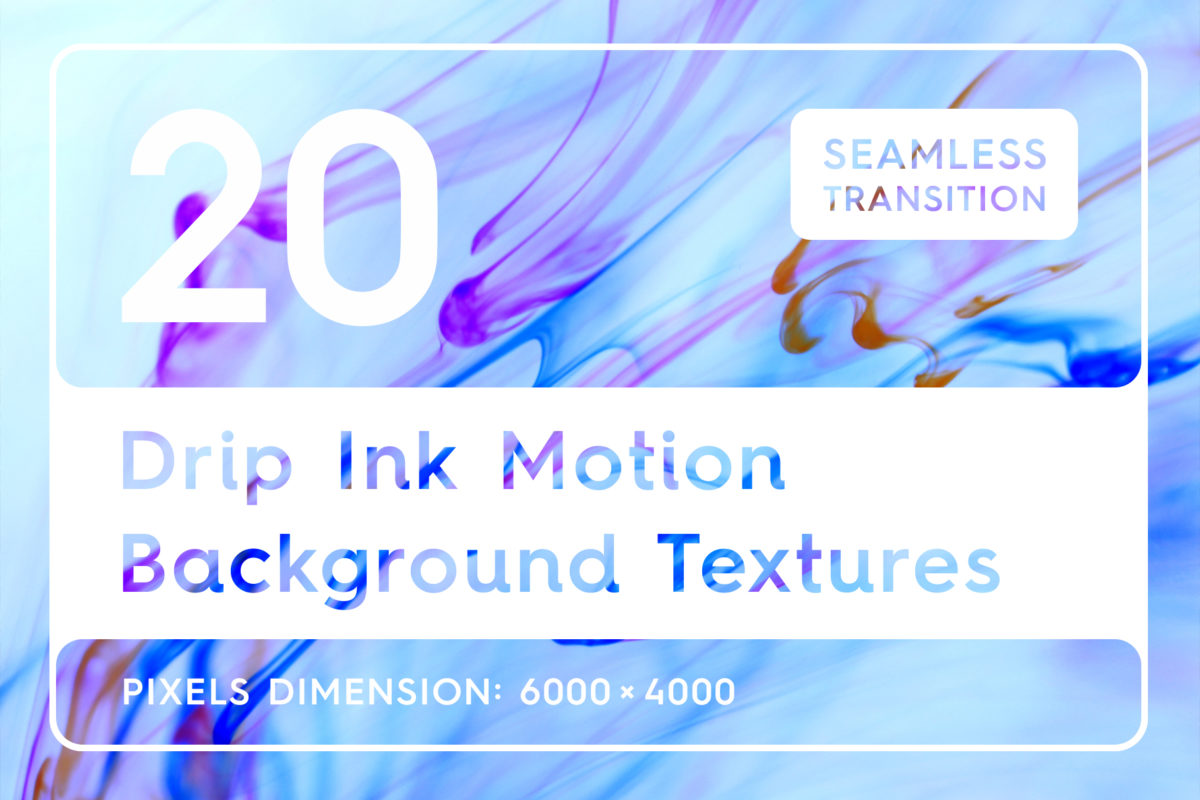 20 Drip Ink Motion Backgrounds