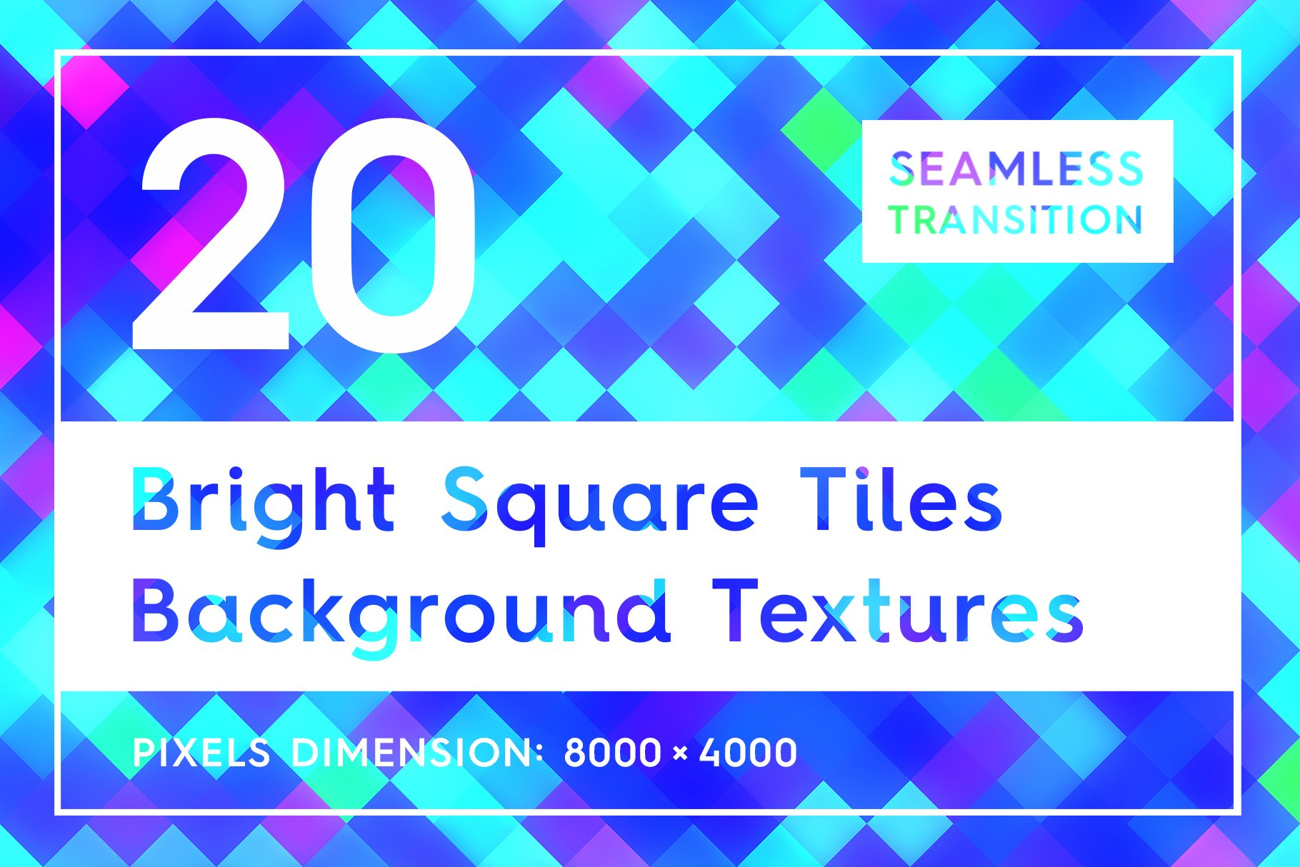 20 Bright Square Tiles Backgrounds