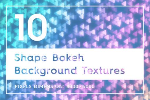 10 Shape Bokeh Background Textures