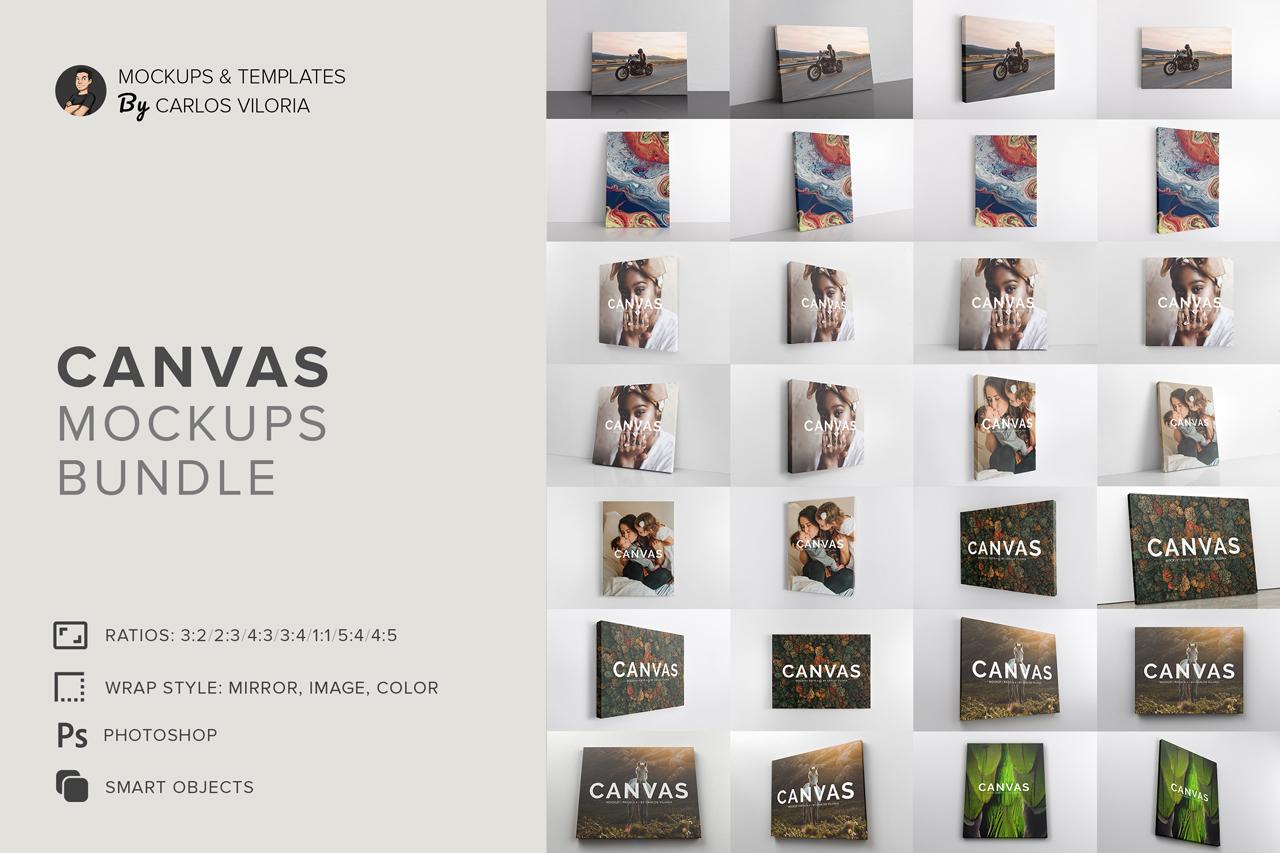 Carlos Viloria Canvas Mockups Bundle