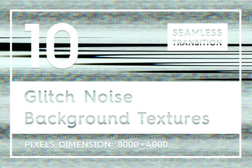 10 Glitch Noise Background Textures