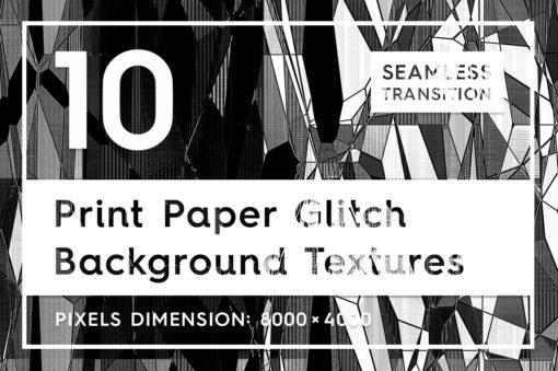 10 Print Paper Glitch Backgrounds