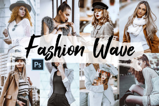 5x Fashion Wave Photoshop Actions and LUTs