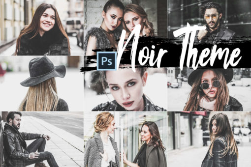 5x Noir Theme Photoshop Actions and LUTs Presets