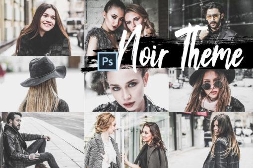 5x Noir Theme Photoshop Actions and LUTs Presets