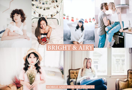BRIGHT & AIRY Desktop and Mobile Lightroom Presets