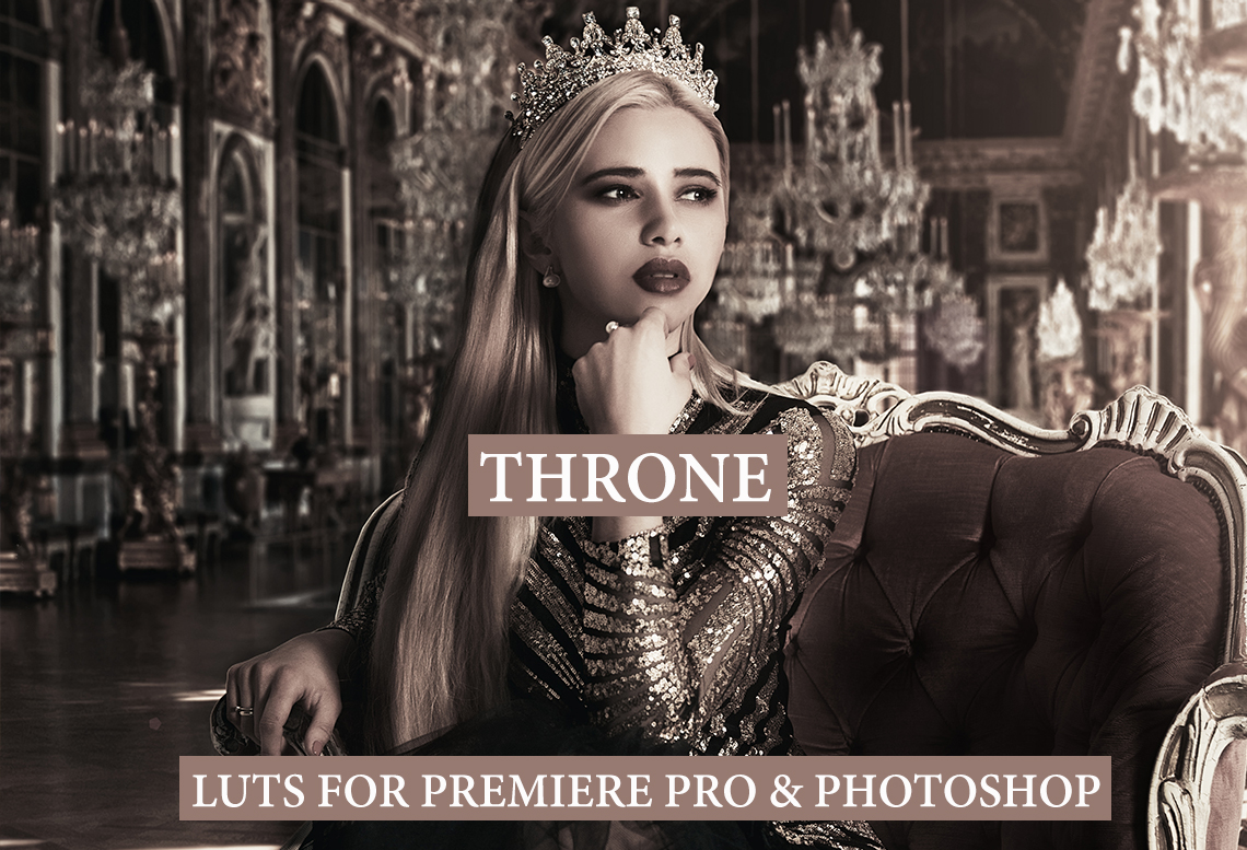 THRONE LUTs for Premiere Pro (.cube format)