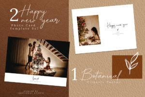 EDITABLE Happy New Year Photo Card