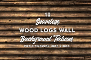10 Wood Logs Wall Background Textures