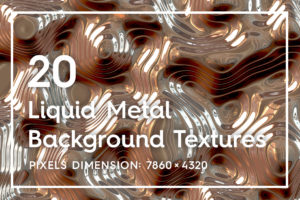 20 Liquid Metal Background Textures