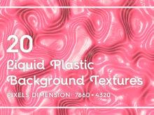 20 Liquid Plastic Background Textures