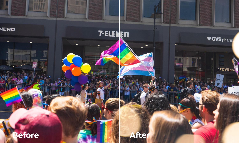 bokeh effect pride