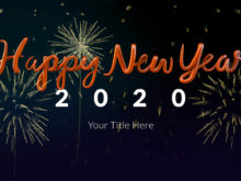 New Year's Elastic Countdown After Effects Template