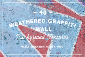 40 Weathered Graffiti Wall Textures