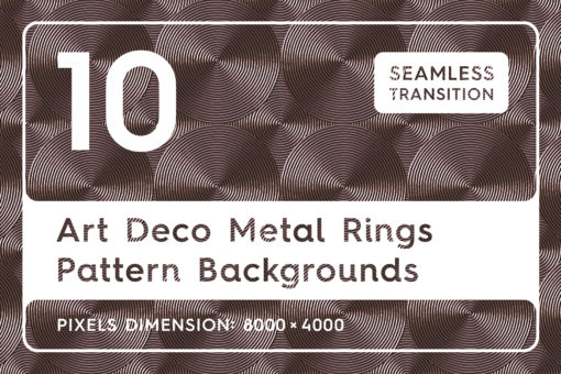 10 Art Deco Metal Rings Patterns
