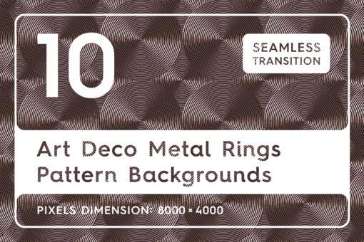 10 Art Deco Metal Rings Patterns