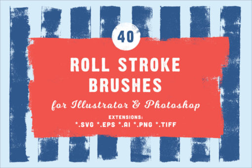 40 Roll Stroke Photoshop Brushes (+ Ai)