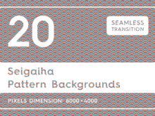 20 Seigaiha Background Textures