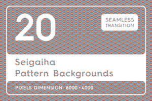 20 Seigaiha Background Textures