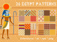 24 Egypt Patterns Pack