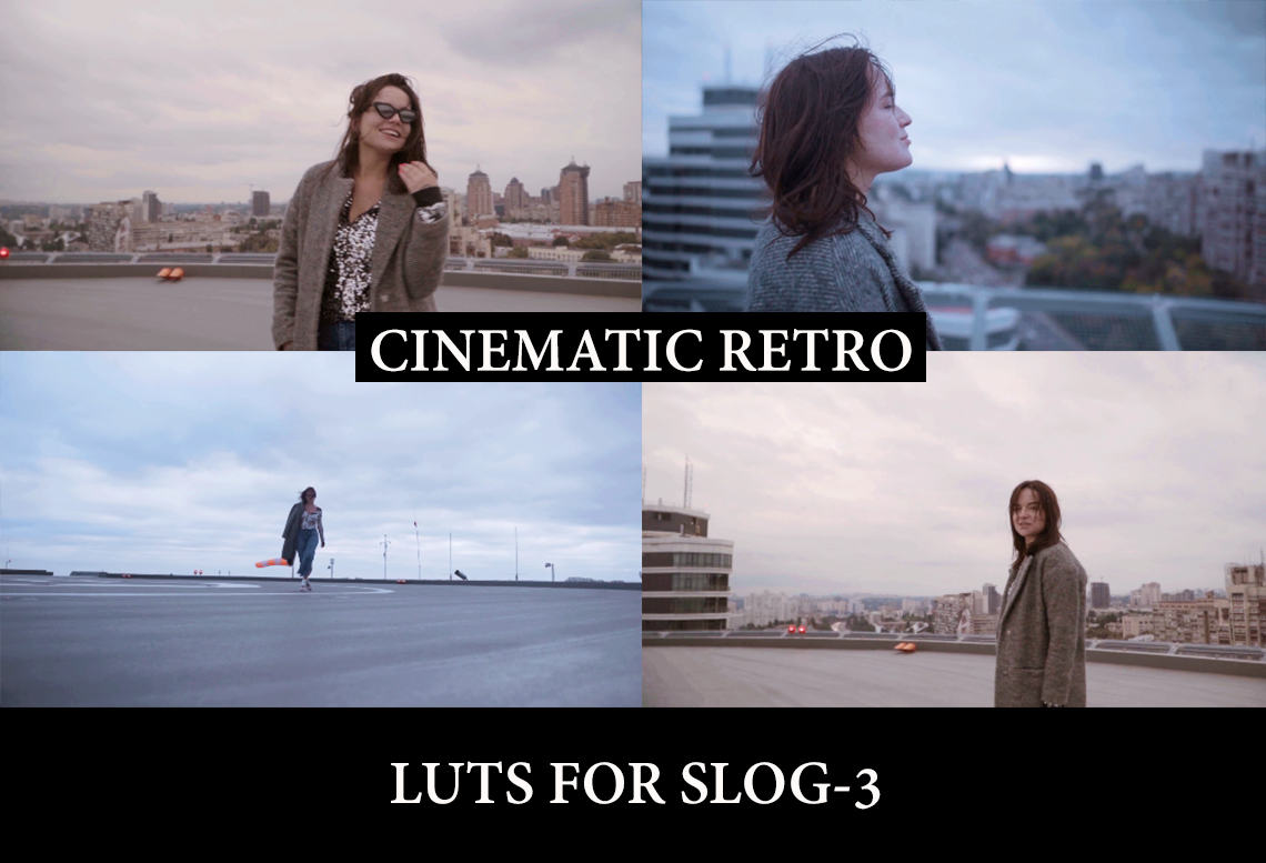 CINEMATIC RETRO LUTs for Videos and Photos on SLOG3