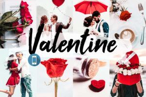 5x Valentine Mobile Lightroom Presets