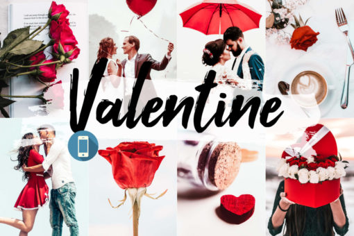 5x Valentine Mobile Lightroom Presets
