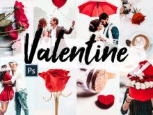 5x Valentine Photoshop Actions, ACR Presets, LUTs Kit