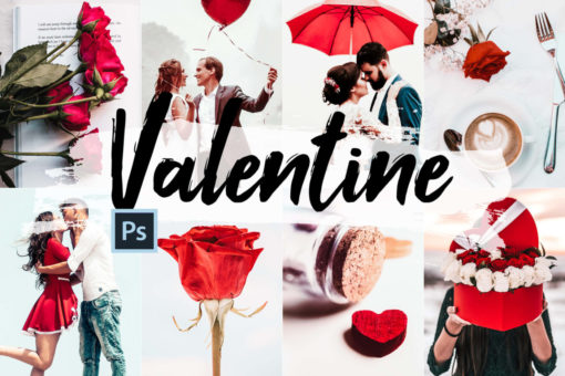5x Valentine Photoshop Actions, ACR Presets, LUTs Kit