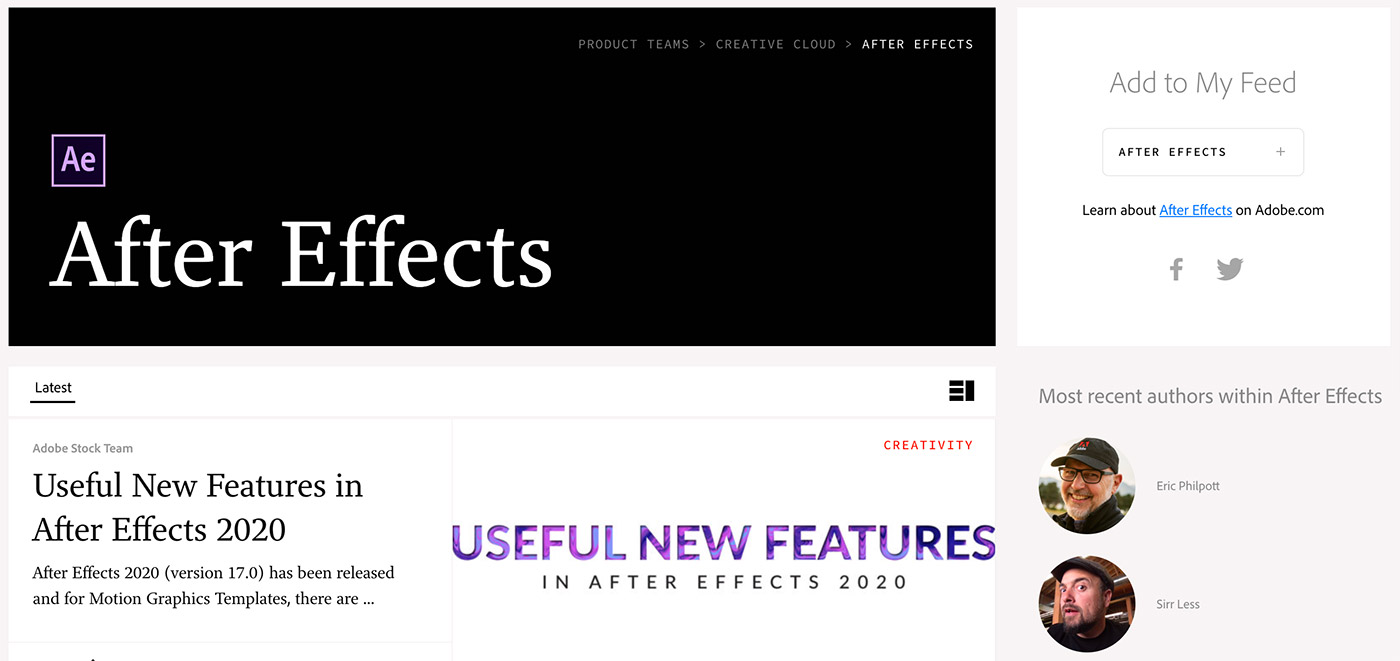 official Adobe After Effects blog