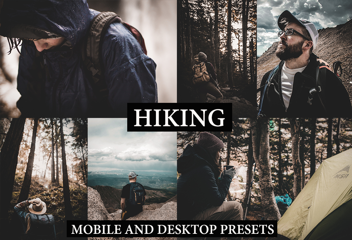 HIKING Desktop + Mobile Lightroom Presets