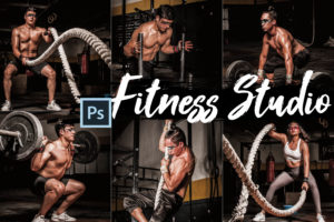 18 Fitness Studio Photoshop Actions, LUTs, and ACR Presets