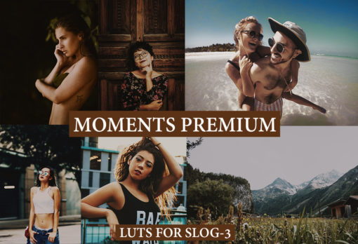 MOMENTS PREMIUM LUTs for Videos and Photos on Slog-3