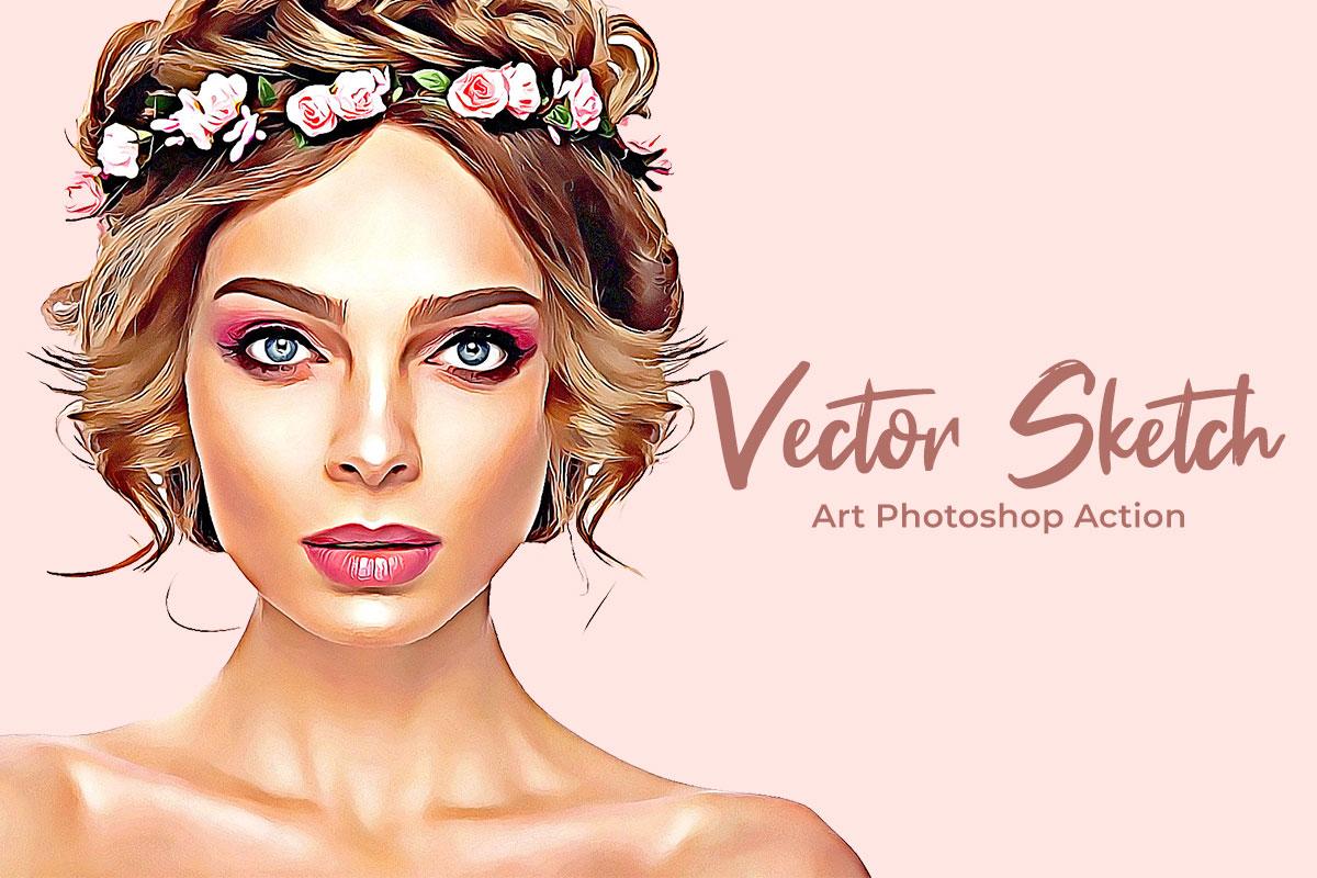 Vector Sketch Art Photoshop Action