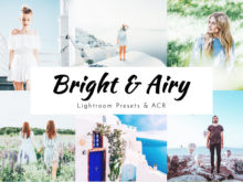 Bright & Airy Lightroom Presets - Desktop, Mobile, Photoshop ACR