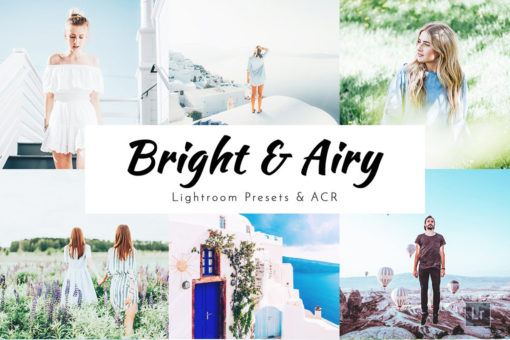 Bright & Airy Lightroom Presets - Desktop, Mobile, Photoshop ACR