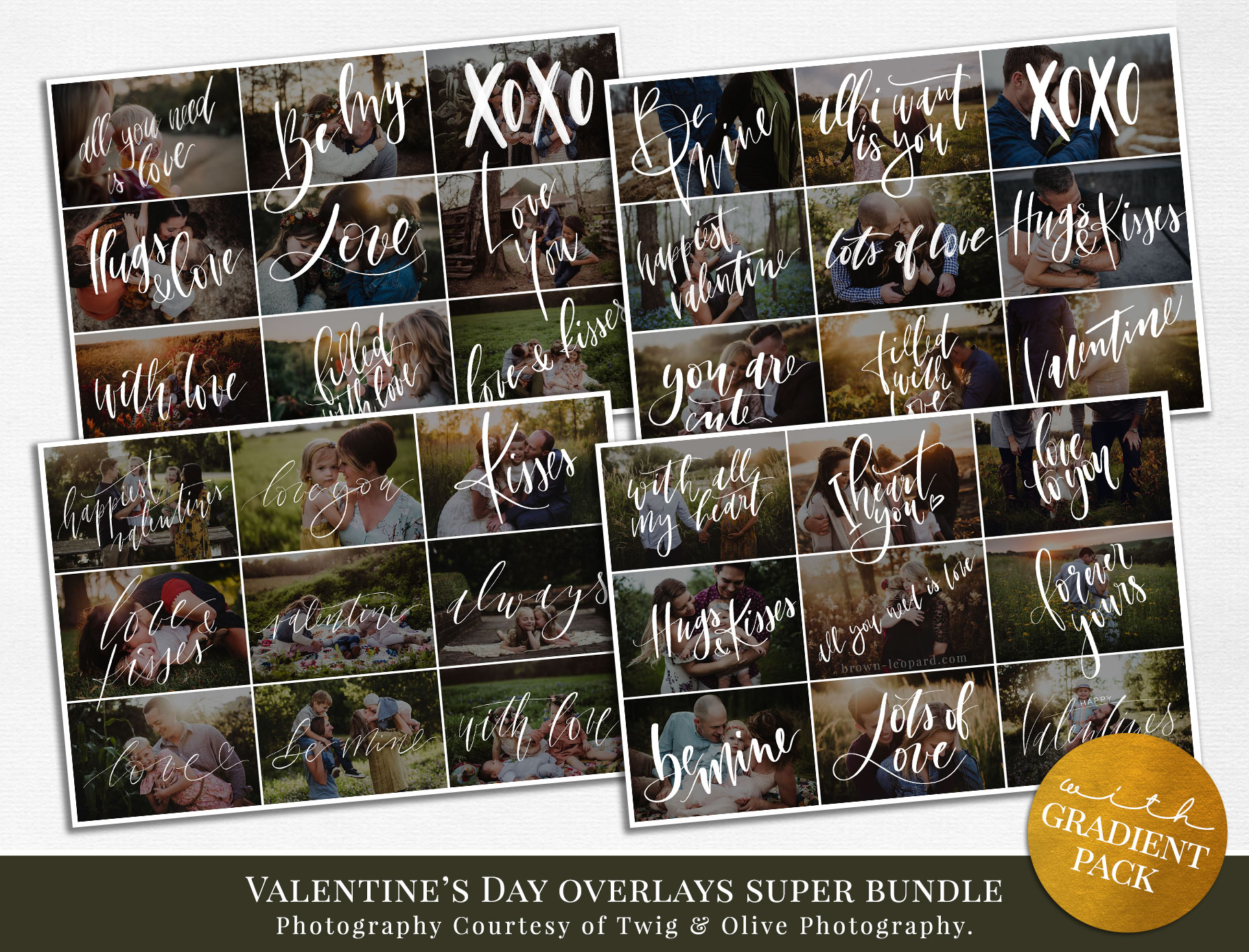 Valentine's Day Photo Overlays – BUNDLE PACK