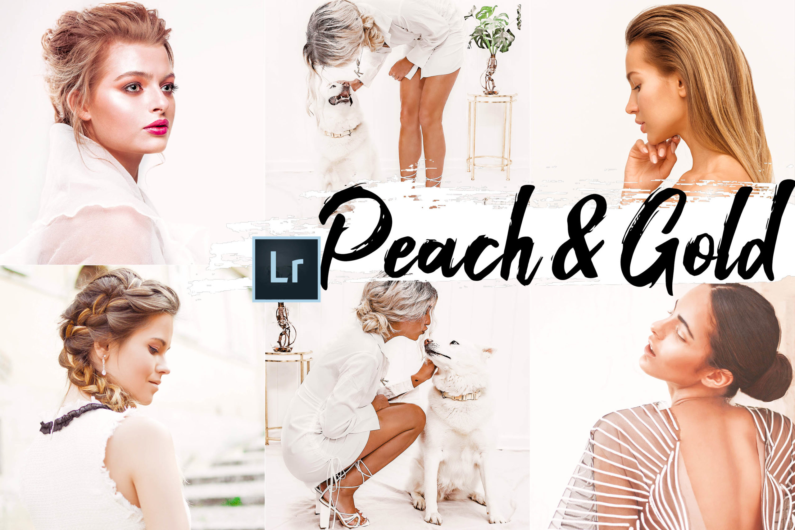 9x Peach & Gold Desktop Lightroom Presets
