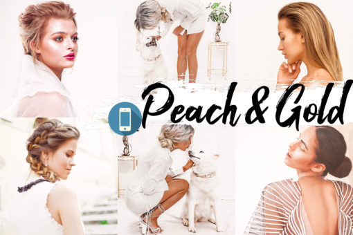 9x Peach & Gold Mobile Lightroom Presets