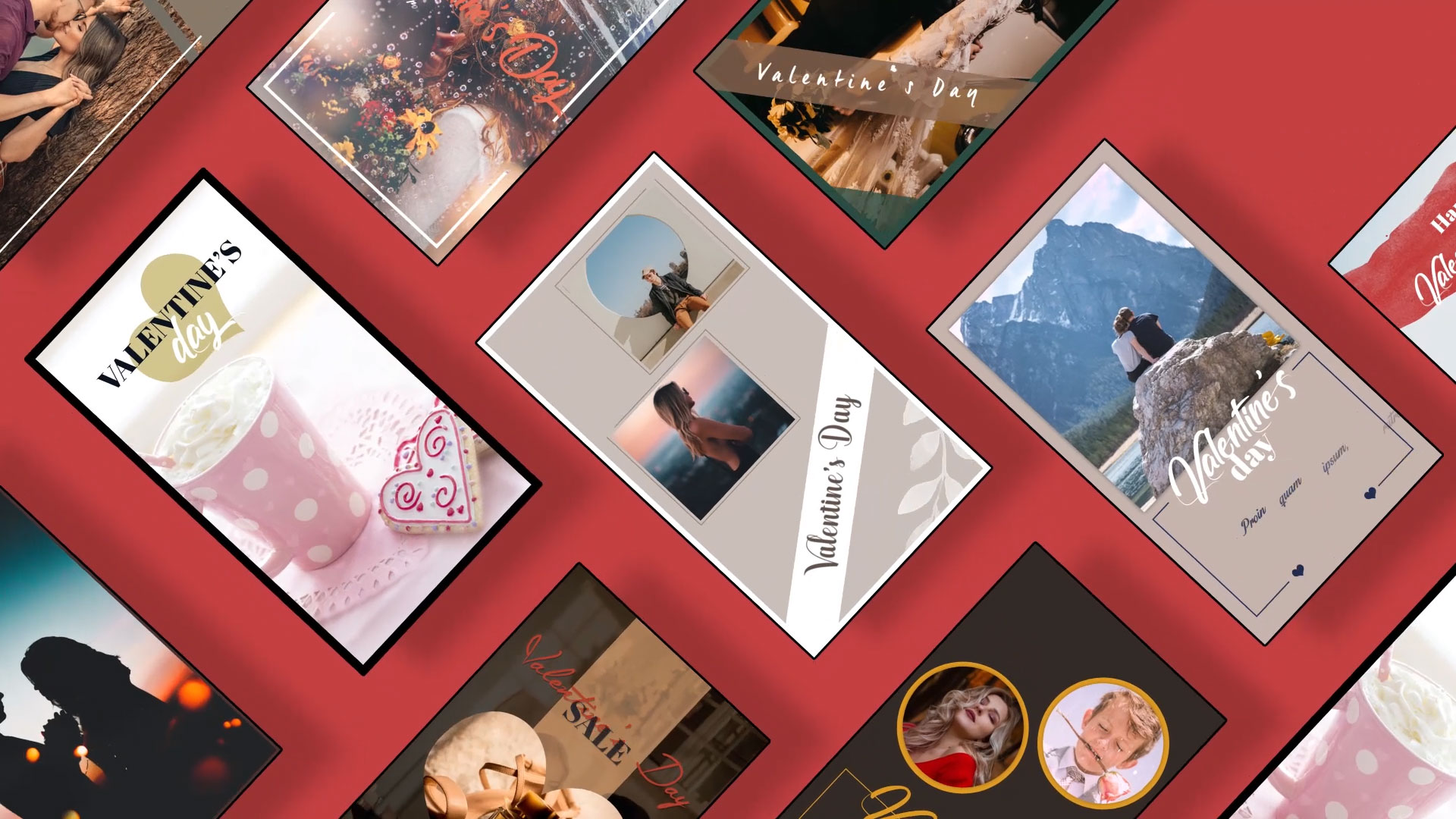 valentine's instagram stories motion template