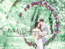 Bright + Pastel Intimate Wedding Lightroom Presets Collection
