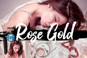 6x Rose Gold Mobile Lightroom Presets