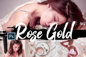 6x Rose Gold Photoshop Actions and LUTs